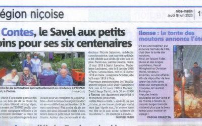 A Contes, le Savel aux petits soins pour ses six centenaires
